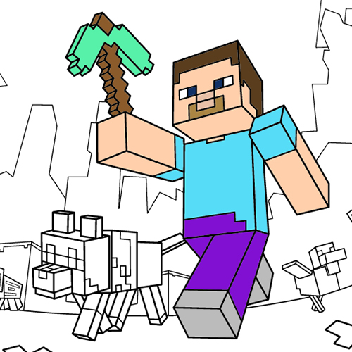 500x500 Coloriage Lego Minecraft. Free Coloriage Ninjago With Coloriage