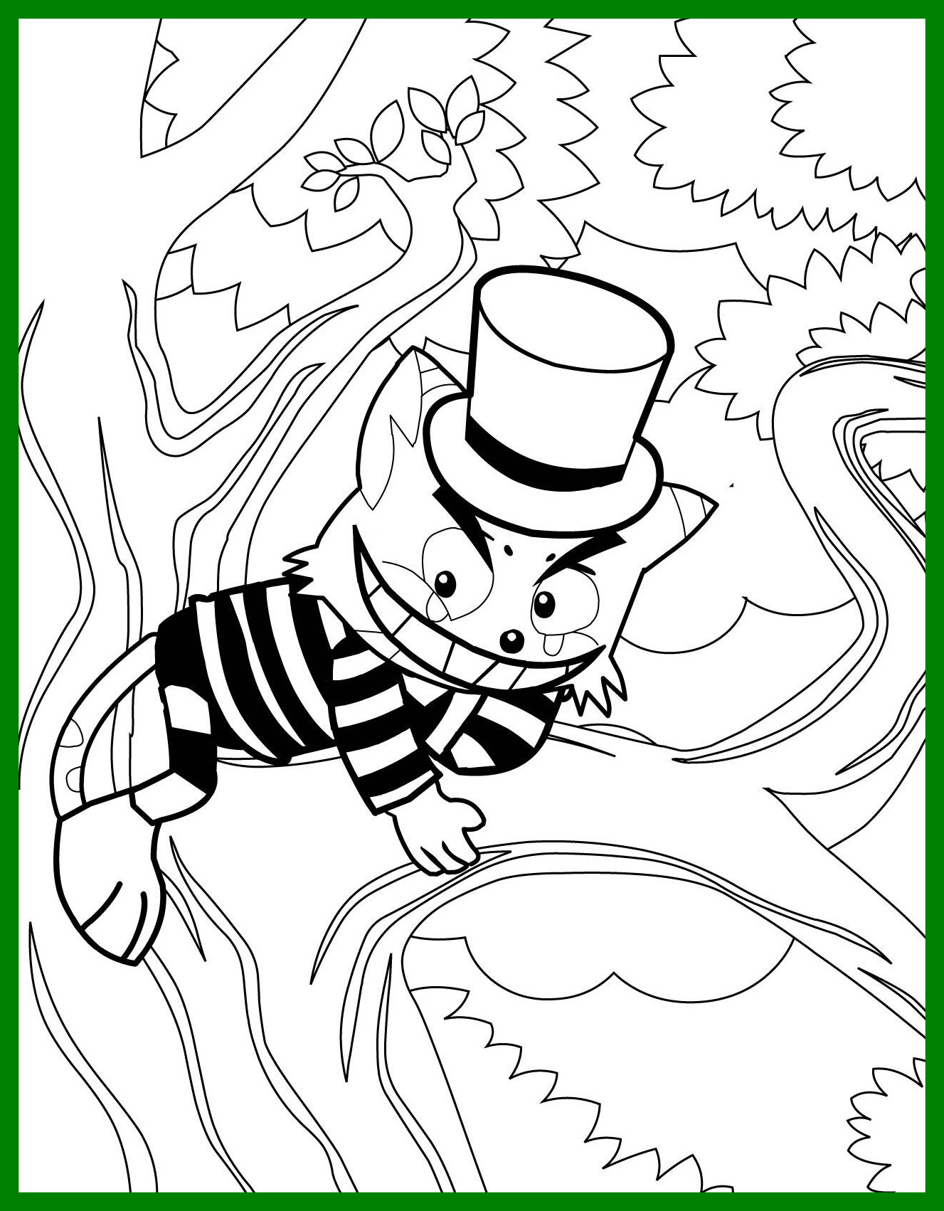 1327x1702 Evil Cat Coloring Pages