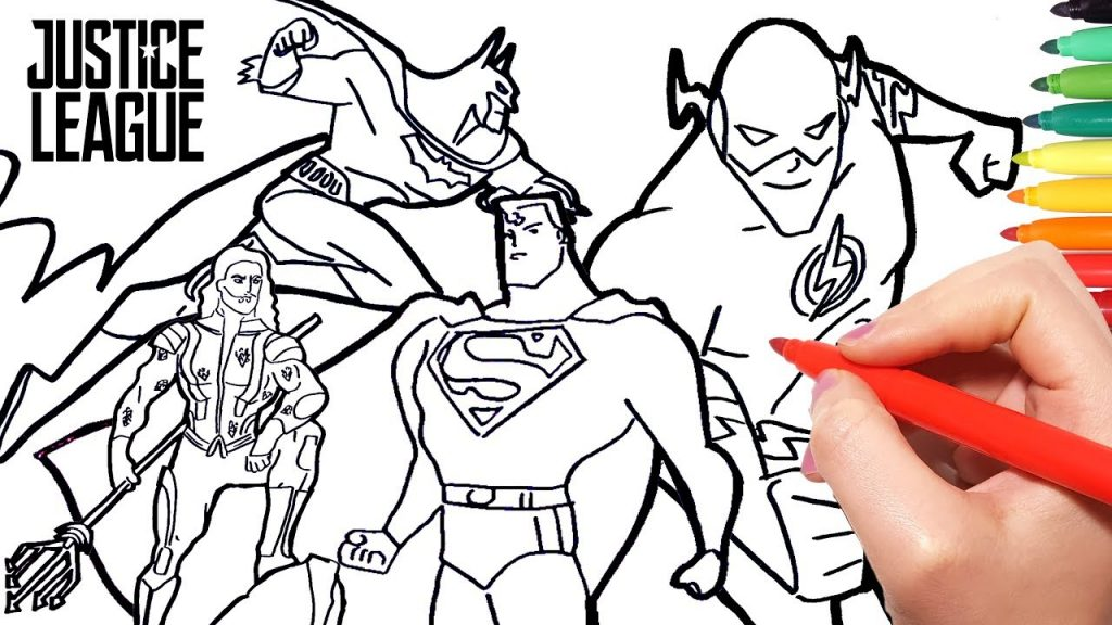1024x576 Justice League Coloring Pages How To Draw Batman Superman Wonder