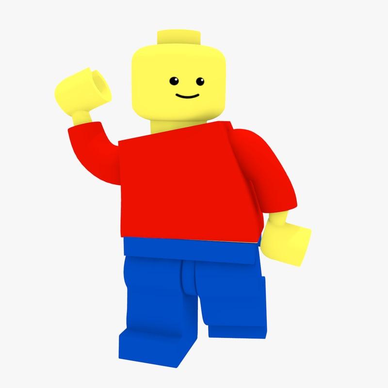 800x800 Free Lego Minifigure Brick Figure 3d Model