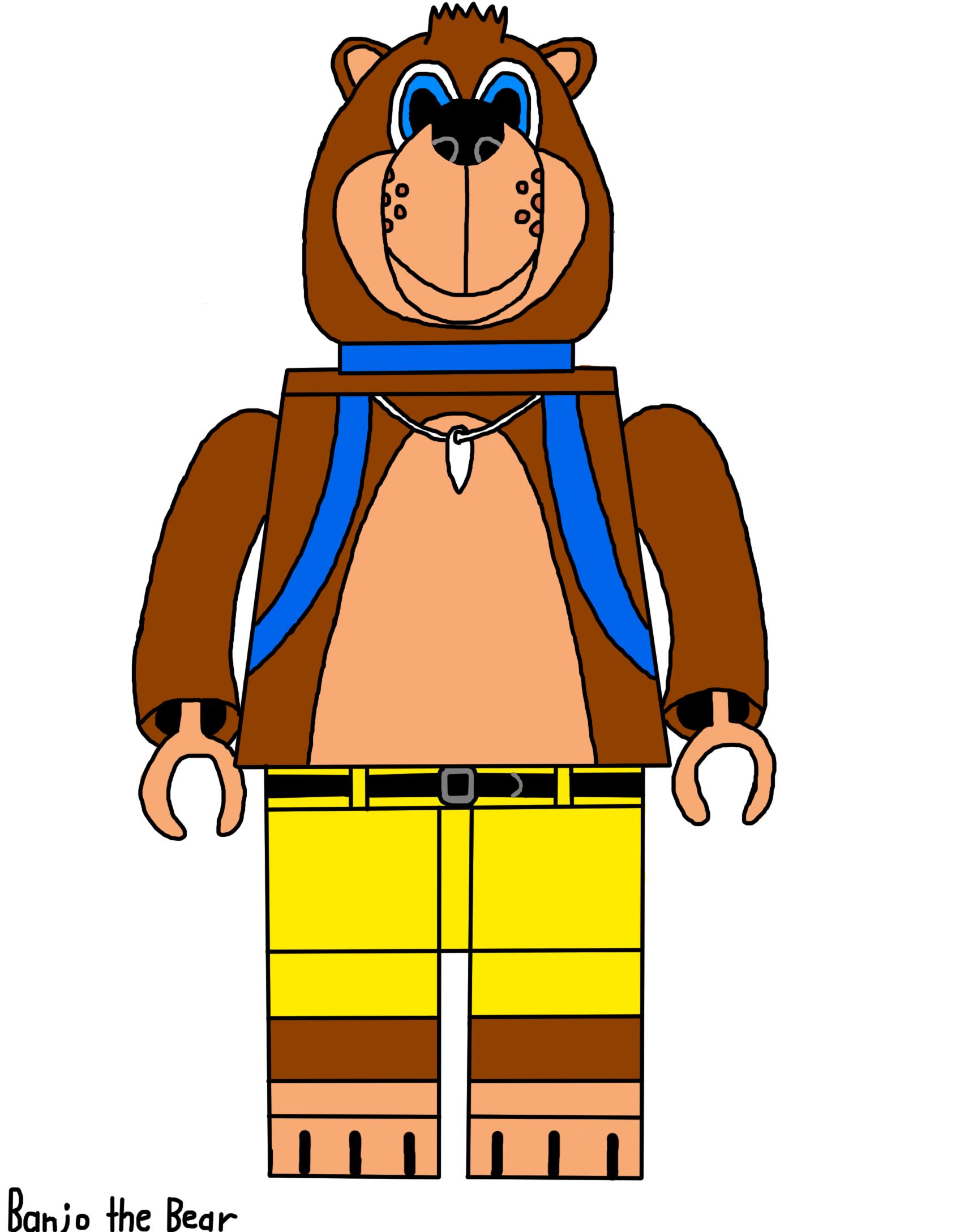 1696x2176 Banjo The Bear