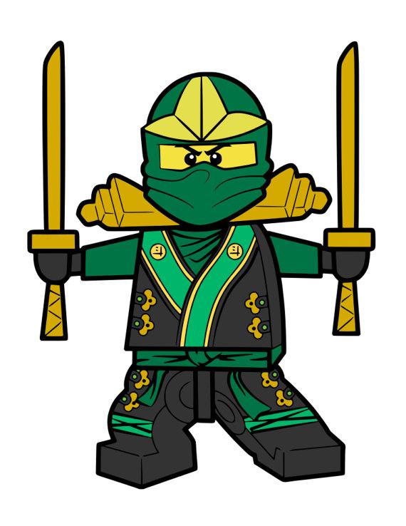 570x738 Green Lego Ninja Svg File