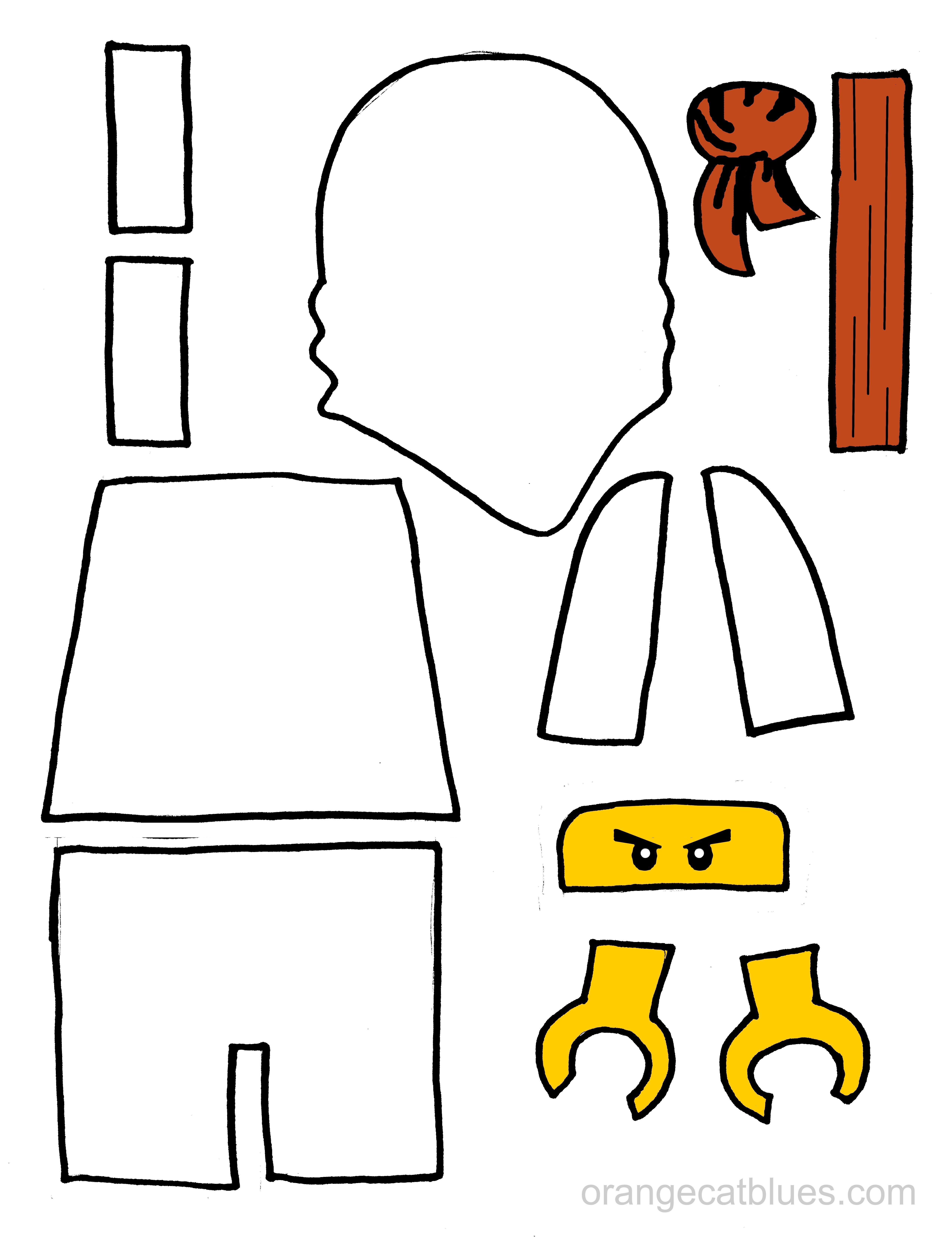 5100x6641 Lego Ninjago Printable Cutout For Toddler Gluestick Art The White