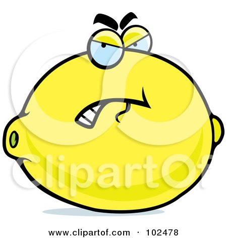 450x470 Clipart Of A Dead Lemon Character In 8 Bit Style