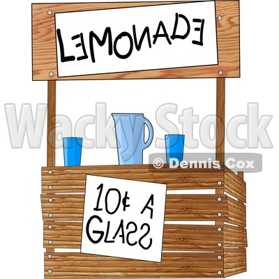 400x400 Funny Lemonade Stand Operated By Children Clipart Illustration