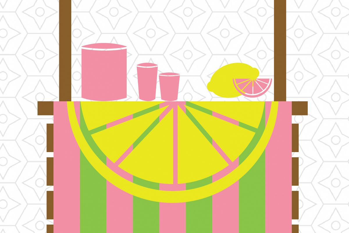 1200x800 Lemonade Stand Decal Design, Svg, Dxf V Design Bundles