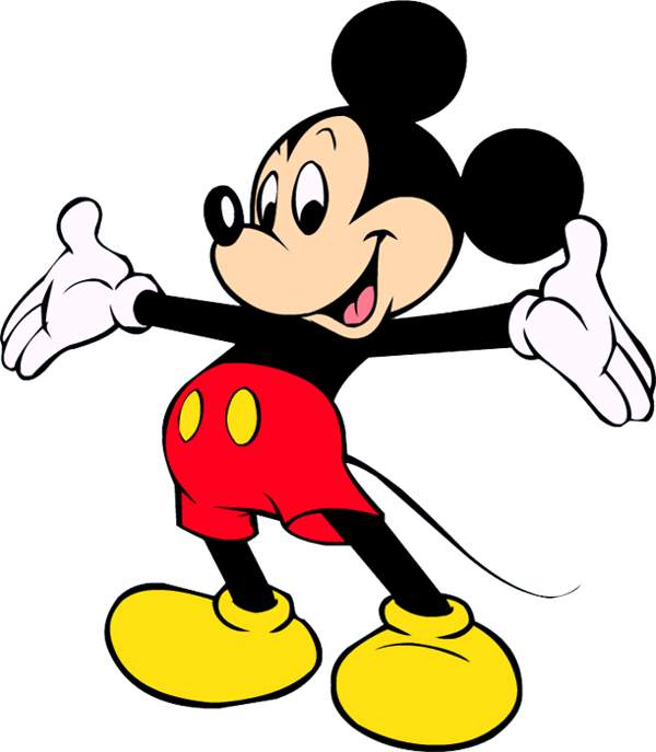 600x687 Micky Mouse Clipart