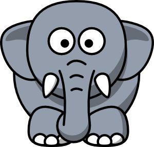 300x286 Public Domain Clip Art Animals Images Elephant Free Download