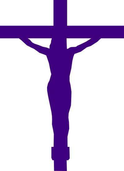 400x551 Purple Cross Clip Art Lenten Season Clip Art