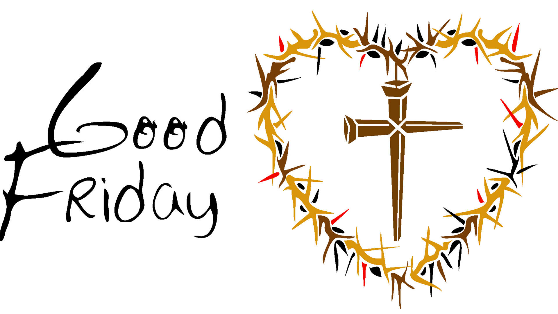 1920x1080 Trendy Inspiration Good Friday Clipart Black And White Thorny