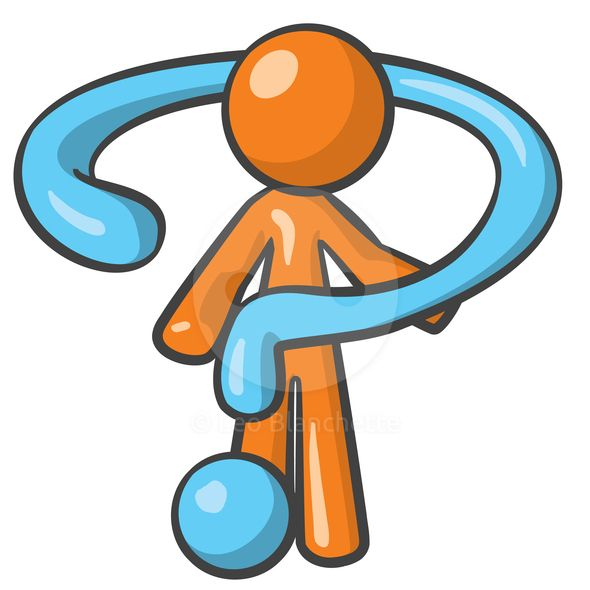 590x590 Clipart Illustration Orange Man Holding Question Mark