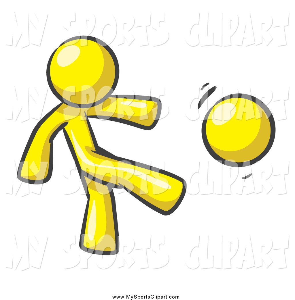 1024x1044 Cool Design Kick Clipart Sports Clip Art Of A Yellow Man Kicking