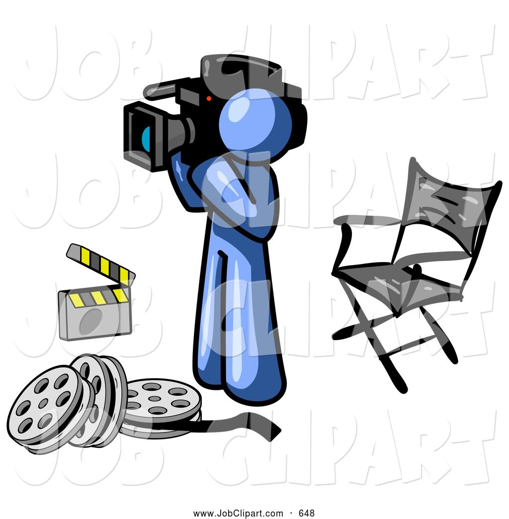 1024x1044 Job Cliprt Of Cameraman Blue Man Filming Movie Scene