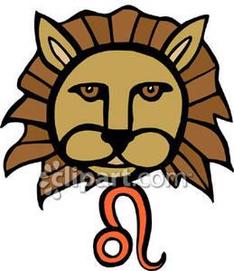 259x300 Lion's Face With A Leo Symbol