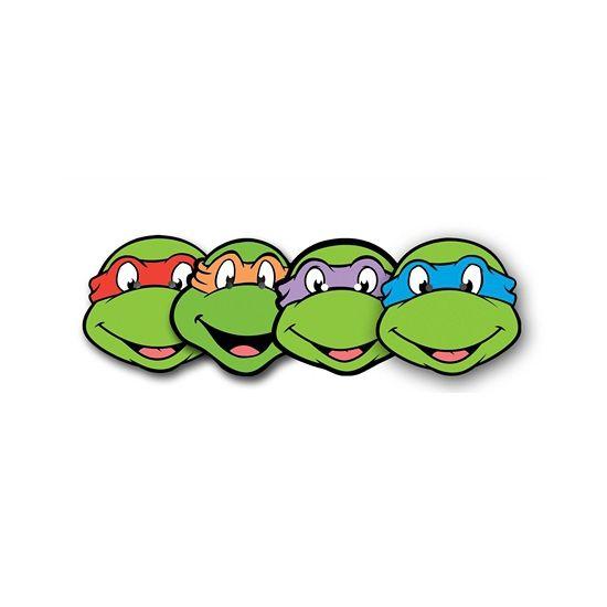 550x550 Set Van 4 Ninja Turtles Maskers. Kartonnen Maskers, Van De 4 Ninja