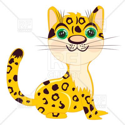 400x400 Cute Leopard Royalty Free Vector Clip Art Image