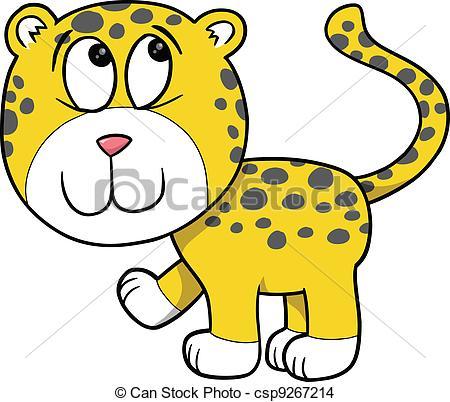 450x402 Shy Cute Leopard Vector Eps Vector