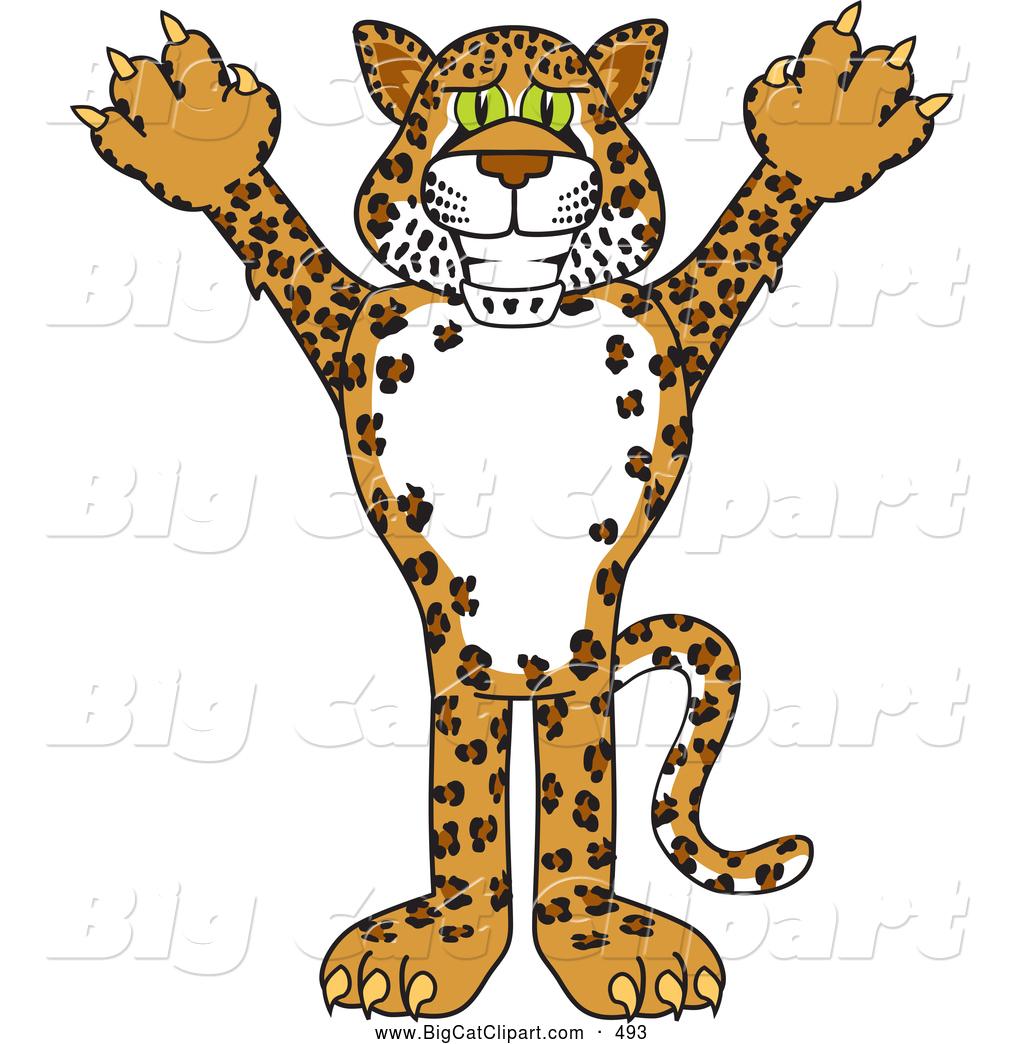 1024x1044 Big Cat Cartoon Vector Clipart Of A Grinning Cheetah, Jaguar