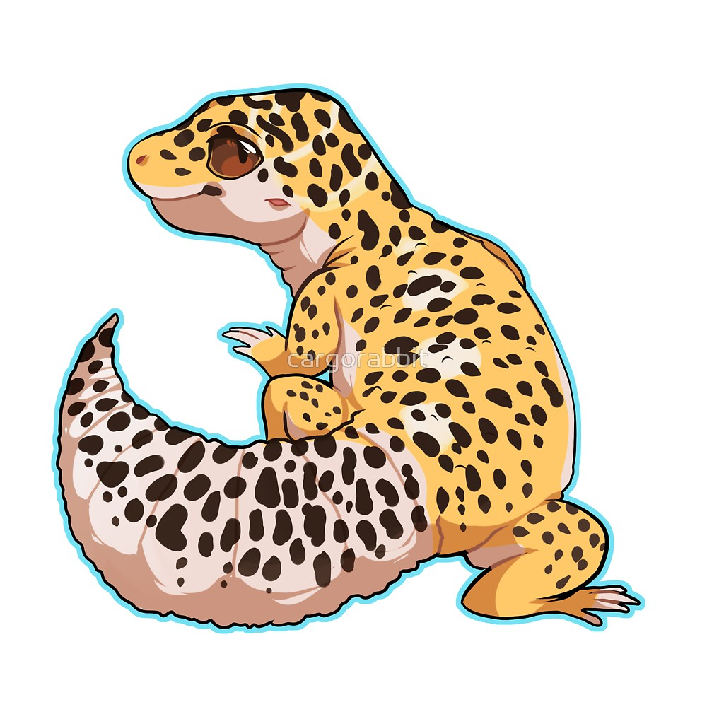 1000x1000 Leopard Gecko By Cargorabbit Redbubble