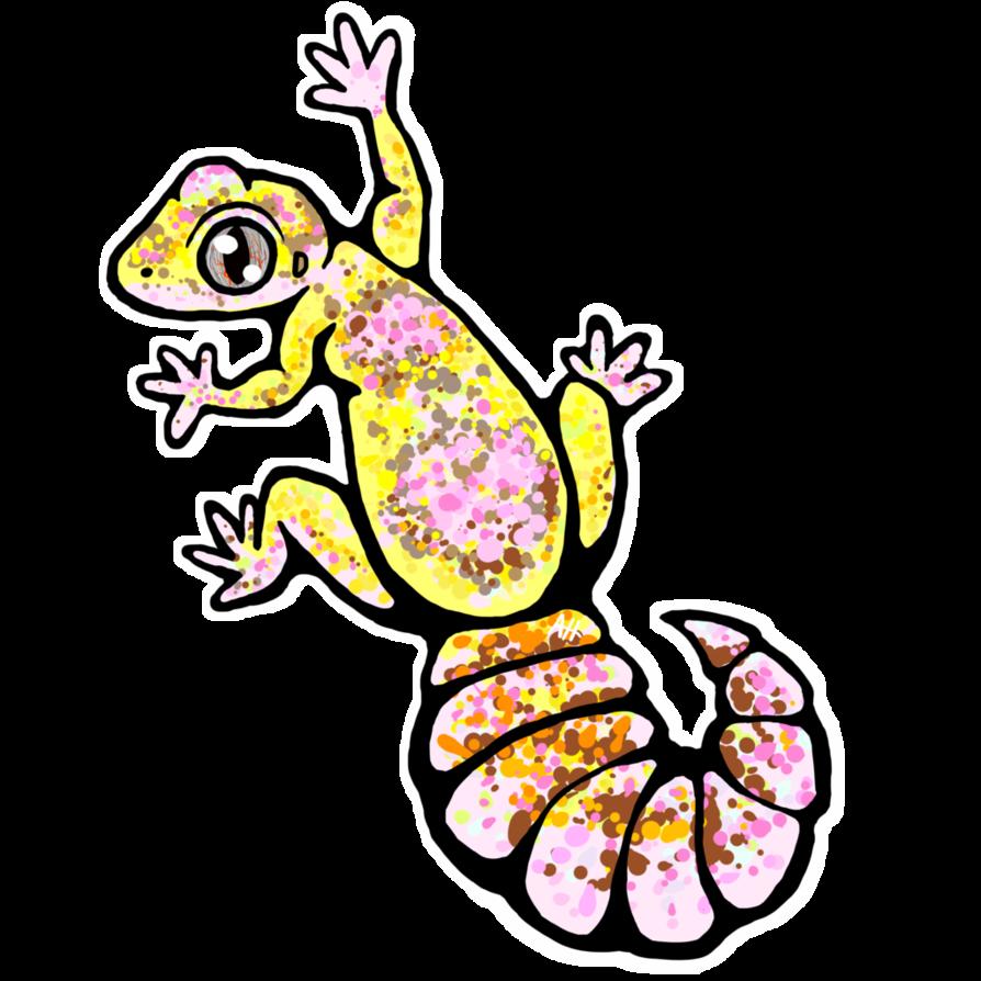 894x894 Leopard Gecko Sticker! (Tremper Albino) By Sc Monster Roo