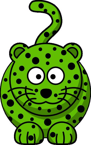 378x598 Green Leopard Clip Art