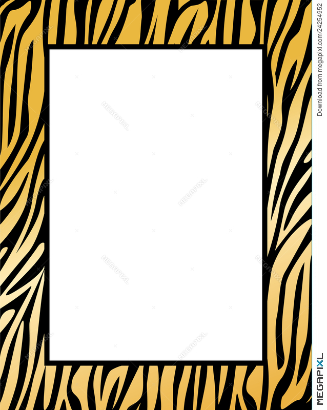 638x800 Leopard Tiger Border Illustration 24254952
