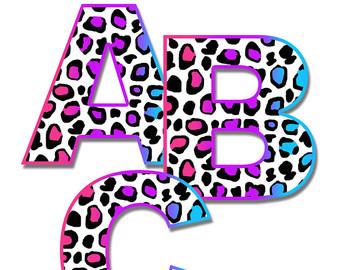 340x270 Leopard Print Letter Etsy