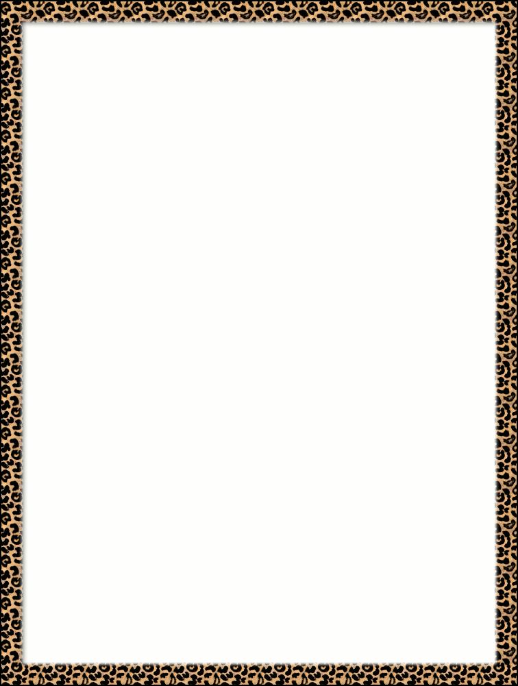 756x1001 Leopard Print Border Clip Art