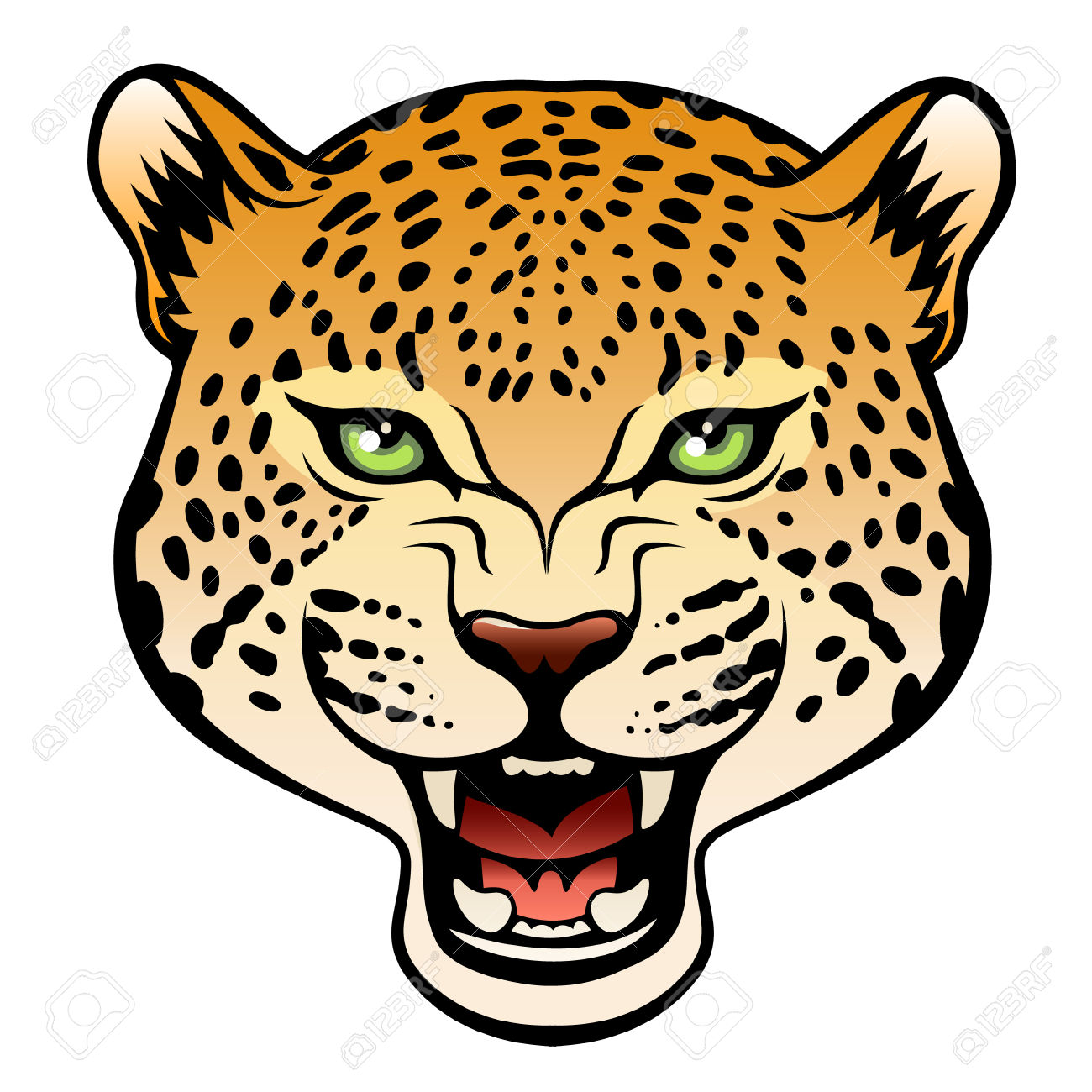 1300x1300 Collection Of Leopard Head Clipart High Quality, Free