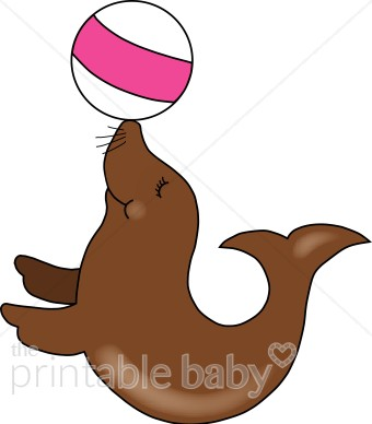 340x388 Sea Lion Clipart Circus Acts