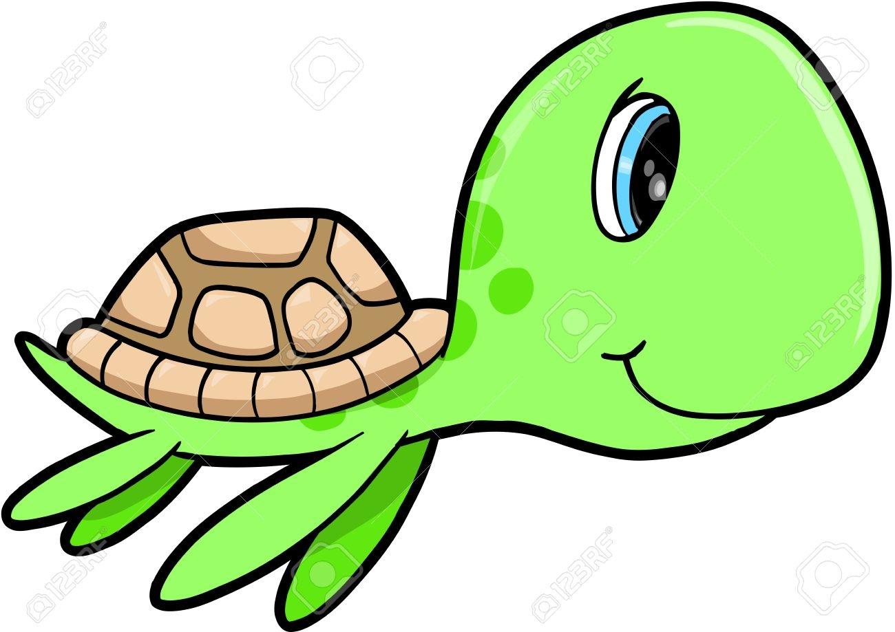 1300x919 Sea Turtle Clipart Kawaii