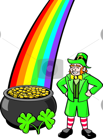 Leprechaun And Rainbow Clipart