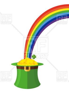 294x400 Leprechaun Hat And Rainbow. St. Patrick's Day In Ireland. Royalty