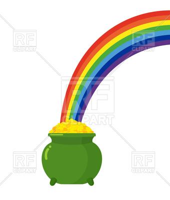 340x400 Pot Of Gold Leprechaun And Rainbow. St. Patrick's Day In Ireland