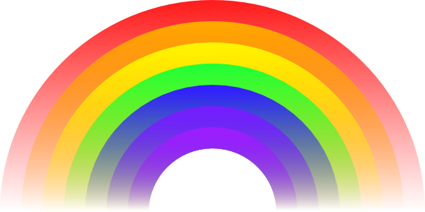 600x300 Rainbow Clip Art Black And White Clipart Panda