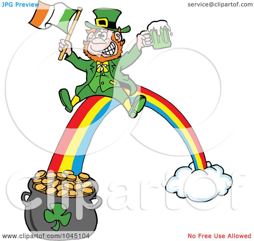 1080x1024 Royalty Free (Rf) Clip Art Illustration Of A Leprechaun Holding