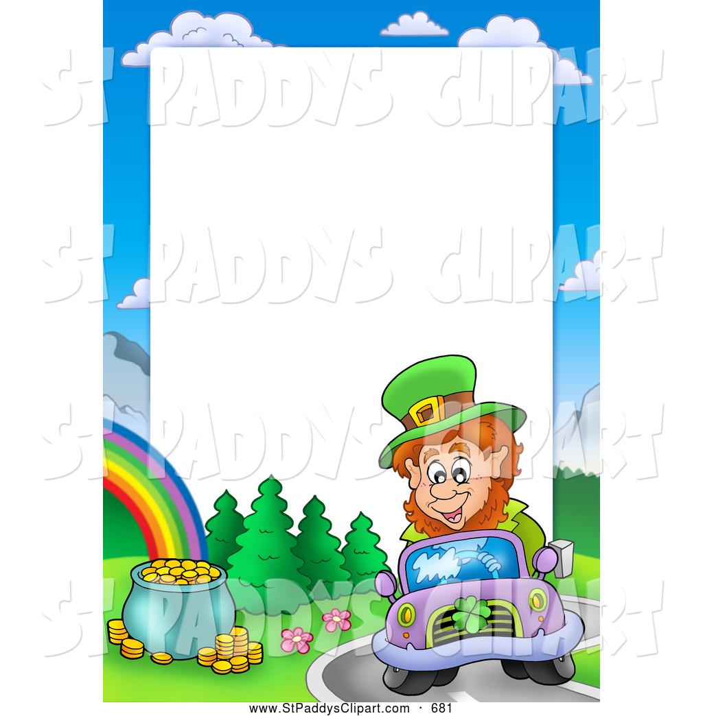 1024x1044 Vector Cliprt Of Friendly Leprechaun Driving Car By