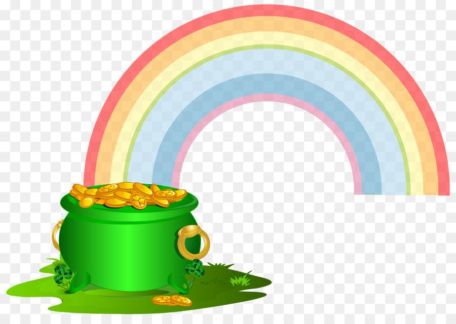 900x640 Gold Rainbow Leprechaun Clip Art