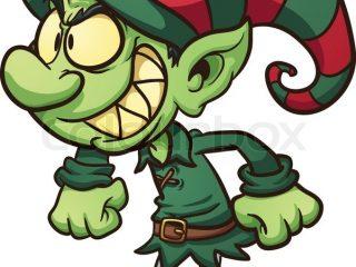 320x240 Evil Leprechaun Clipart Evil Christmas Elf Vector Clip Art