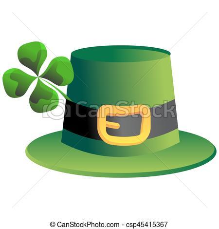 450x470 Leprechaun Four Leaf Clover Hat. An Image Of A Leprechaun Clip