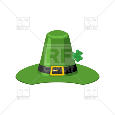 400x400 Leprechaun Hat. St. Patrick's Day. Royalty Free Vector Clip Art