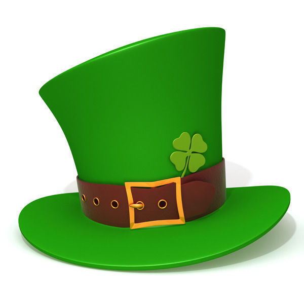600x600 St Patricks Day Hat People 3d Model Cgtrader
