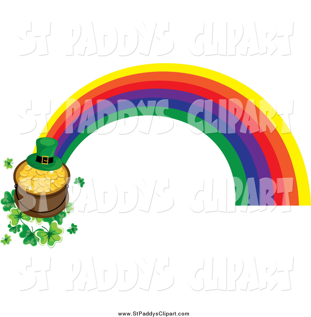 1024x1044 Vector Clip Art Of A Rainbow St Paddys Day Pot Of Gold