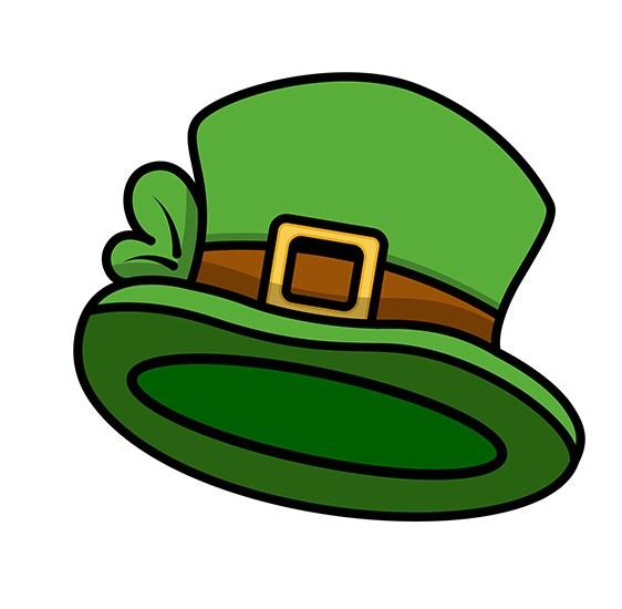 562x550 Download Free Cartoon Leprechaun Hat Vector Illustration
