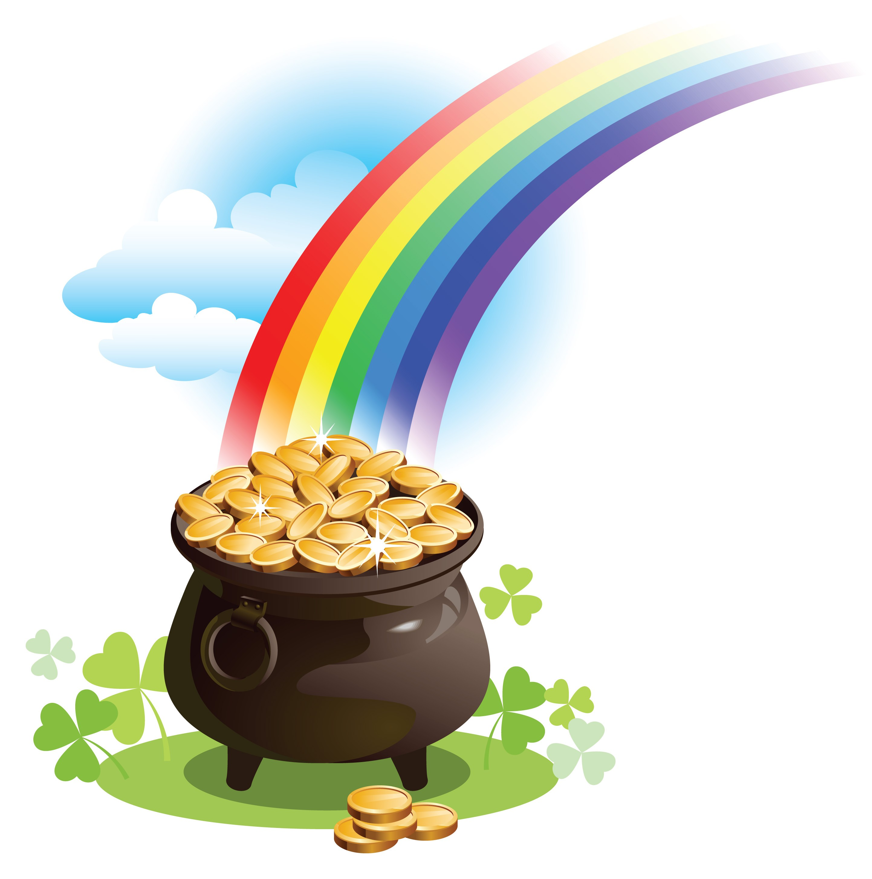 2885x2909 Luxury Pictures Of Pot Gold Clipart Black Clipartuse