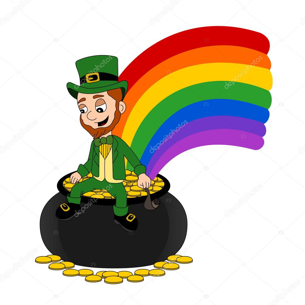 1024x1024 Reduced Leprechaun Pot Of Gold With Transparent Png Clip Art Image