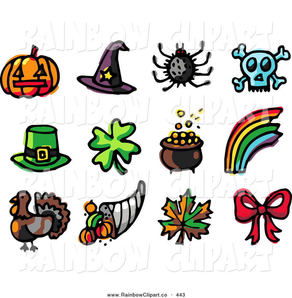 1024x1044 Vector Clip Art Of A Digital Set Of Holiday Icons Pumpkin, Witch