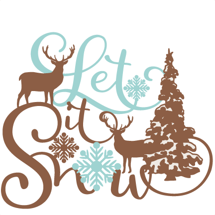 432x432 Let It Snow Phrase Winter Scene Svg Scrapbook Cut File Cute