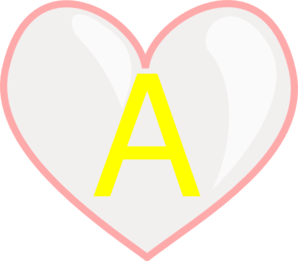 298x261 Heart With Letter A Clip Art