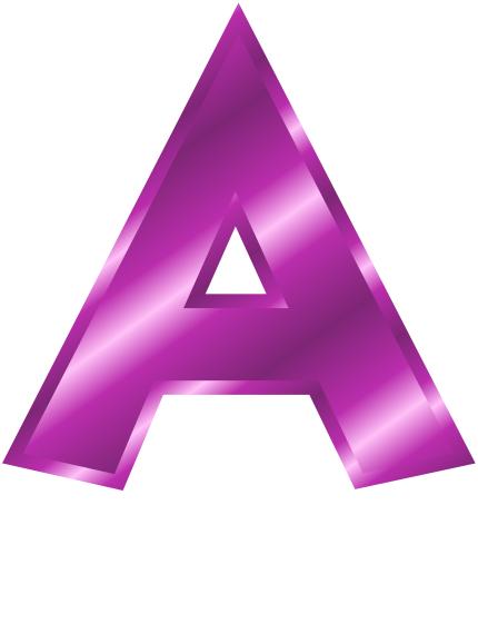 430x570 Purple Mampm Clip Art Share Purple Metal Letter Capitol A Clipart